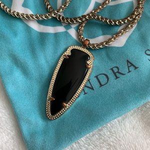 Kendra Scott Jewelry - Kendra Scott Sky Long Necklace in Black and Gold